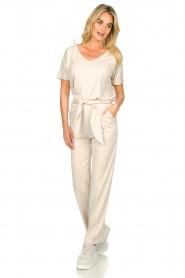 JC Sophie |  Modal pants with belt Dream | beige  | Picture 3