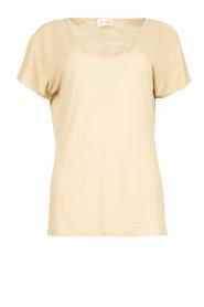 JC Sophie |  Linen T-shirt Dora | beige  | Picture 1