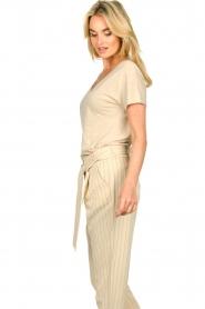 JC Sophie |  Linen T-shirt Dora | beige  | Picture 5