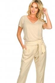 JC Sophie |  Linen T-shirt Dora | beige  | Picture 4