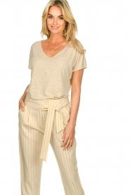 JC Sophie |  Linen T-shirt Dora | beige  | Picture 2
