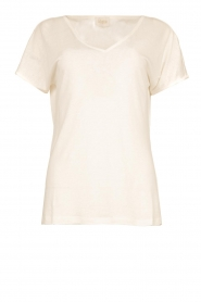 JC Sophie |  Linen T-shirt Dora | white  | Picture 1