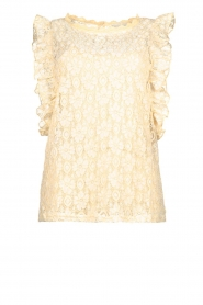 JC Sophie |  Lace top Denise | Beige  | Picture 1
