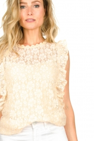 JC Sophie |  Lace top Denise | Beige  | Picture 4