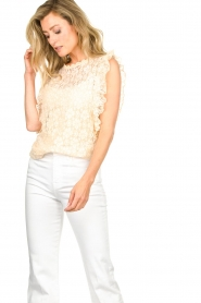 JC Sophie |  Lace top Denise | Beige  | Picture 2