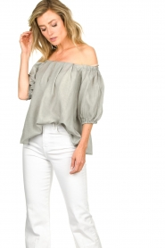 JC Sophie |  Off-shoulder top Delight | grey  | Picture 4