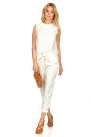 JC Sophie |  Sleeveless top Dee | white  | Picture 3
