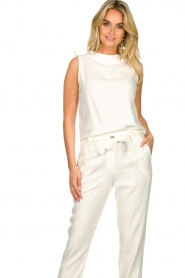 JC Sophie |  Sleeveless top Dee | white  | Picture 4