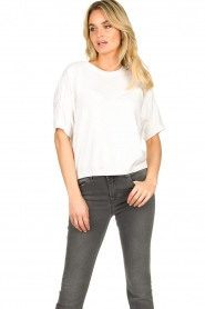 JC Sophie |  Basic sweater Dijon | white  | Picture 2