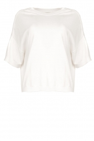 JC Sophie |  Basic sweater Dijon | white  | Picture 1