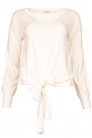 JC Sophie |  Tie knot sweater Dorothy | white  | Picture 1
