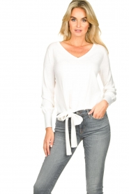 JC Sophie |  Tie knot sweater Dorothy | white  | Picture 2
