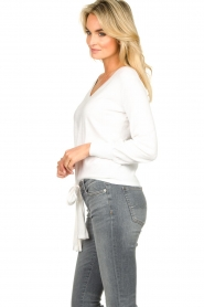 JC Sophie |  Tie knot sweater Dorothy | white  | Picture 5