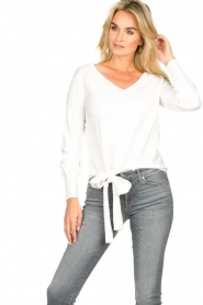 JC Sophie |  Tie knot sweater Dorothy | white  | Picture 4