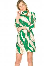 ELISABETTA FRANCHI | Print dress Chain | green  | Picture 2