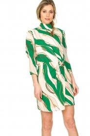 ELISABETTA FRANCHI | Print dress Chain | green  | Picture 5