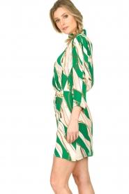 ELISABETTA FRANCHI | Print dress Chain | green  | Picture 4