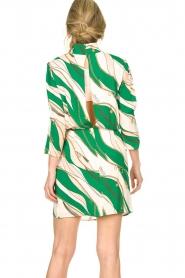 ELISABETTA FRANCHI | Print dress Chain | green  | Picture 6
