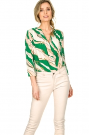 ELISABETTA FRANCHI | Body blouse Chain | green  | Picture 2