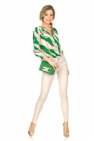 ELISABETTA FRANCHI | Body blouse Chain | green  | Picture 3