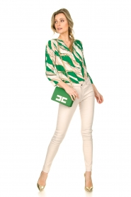 ELISABETTA FRANCHI | Body blouse Chain | green  | Picture 4