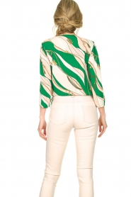 ELISABETTA FRANCHI | Body blouse Chain | green  | Picture 6