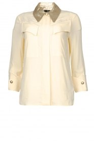 ELISABETTA FRANCHI    Blouse with metallic collar Toxic   natural     Picture 1