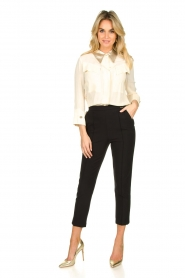 ELISABETTA FRANCHI    Blouse with metallic collar Toxic   natural     Picture 3