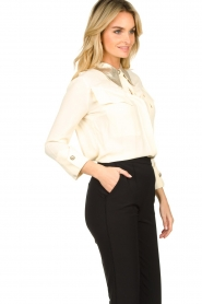 ELISABETTA FRANCHI    Blouse with metallic collar Toxic   natural     Picture 5