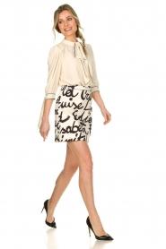 ELISABETTA FRANCHI | Dress with logo Karin | naturel  | Picture 3