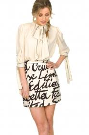 ELISABETTA FRANCHI | Dress with logo Karin | naturel  | Picture 5