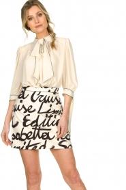 ELISABETTA FRANCHI | Dress with logo Karin | naturel  | Picture 2