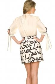 ELISABETTA FRANCHI | Dress with logo Karin | naturel  | Picture 6