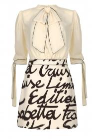 ELISABETTA FRANCHI | Dress with logo Karin | naturel  | Picture 1