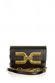ELISABETTA FRANCHI |  Shoulder bag with golden logo Christy | black  | Picture 1