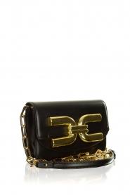 ELISABETTA FRANCHI |  Shoulder bag with golden logo Christy | black  | Picture 3