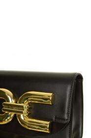 ELISABETTA FRANCHI |  Shoulder bag with golden logo Christy | black  | Picture 5
