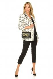 ELISABETTA FRANCHI |  Shoulder bag with golden logo Christy | black  | Picture 2