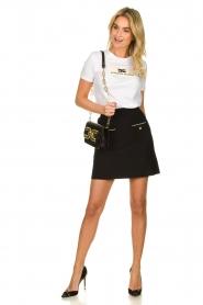 ELISABETTA FRANCHI |  Shoulder bag with golden logo Christy | black  | Picture 6