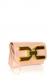 ELISABETTA FRANCHI |  Clutch with golden logo Lizzy | pink  | Picture 3