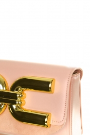 ELISABETTA FRANCHI |  Clutch with golden logo Lizzy | pink  | Picture 4