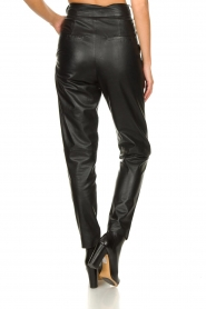 Ibana |  Non-stretch leather pants | black  | Picture 6