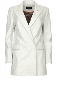 Ibana |  Leather blazer Novie | white  | Picture 1