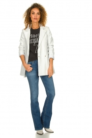 Ibana |  Leather blazer Novie | white  | Picture 3