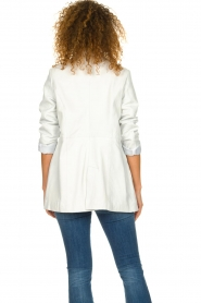 Ibana |  Leather blazer Novie | white  | Picture 5