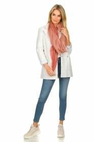 Ibana |  Leather blazer Novie | white  | Picture 6