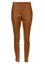 Ibana |  Leather pants Colette | camel  | Picture 1