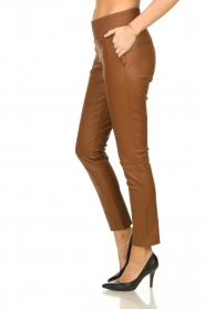 Ibana |  Leather pants Colette | camel  | Picture 4