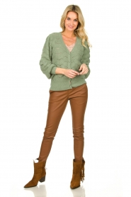 Ibana |  Leather pants Colette | camel  | Picture 3