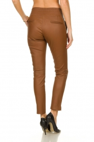 Ibana |  Leather pants Colette | camel  | Picture 5